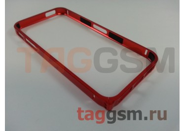 Бампер для iPhone 5 / 5S / SE (металлический, (красный) Fashion Case