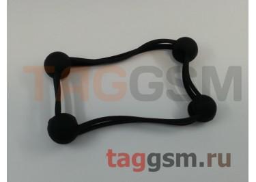 Бампер для телефона универсальный 3.0-5.0 дюймов (силикон, матовый, черный), техпак