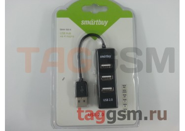 USB HUB Smartbuy Engine 4 порта Black (SBHA-160-K)