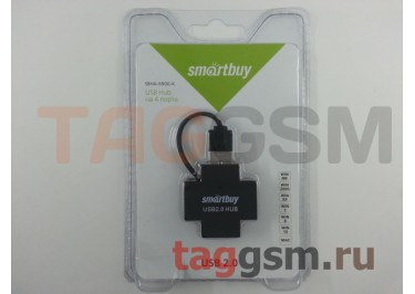 USB HUB SmartTrack 4 port Black (STHA-6900-K)