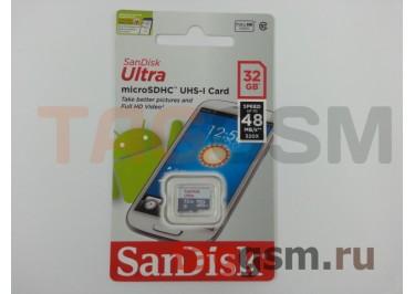 Micro SD 32Gb SanDisk Class 10 UHS-I 48Mb / s без адаптера SD