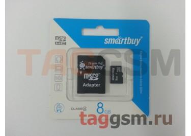Micro SD 8Gb Smartbuy Class 4 c адаптером SD