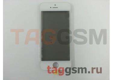 Стекло + OCA + поляризатор + рамка для iPhone 5 (белый), ориг