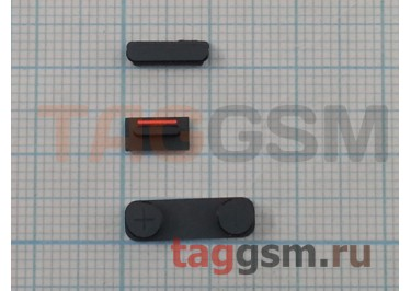 Кнопка (толкатель) для iPhone 5 комплект (mute, on / off, volume) (черный)