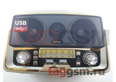Колонка (MD-1701BT) (Bluetooth+USB+SD+MicroSD+FM) (серебро)