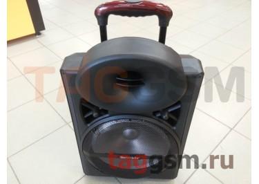Колонка (MR-103) (Bluetooth+USB+SD+MicroSD+FM+EQ+LED+2 BTмикрофона+пульт+дисплей) (черная)
