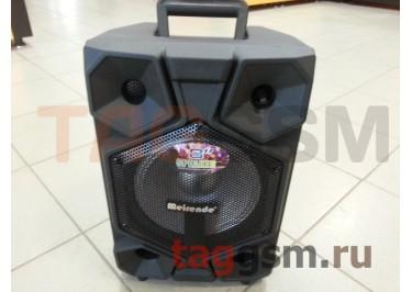 Колонка (MR-116A) (Bluetooth+USB+SD+FM+EQ+LED+AUX+микрофон+пульт+дисплей) (черная)