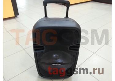 Колонка (K12-2) (Bluetooth+USB+SD+MicroSD+FM+EQ+AUX+LED+EQ+микрофон+пульт+дисплей) (черная)