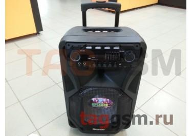 Колонка (MR-106) (Bluetooth+USB+SD+MicroSD+FM+EQ+LED+2 BTмикрофона+пульт+дисплей) (черная)