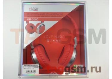 Беспроводные наушники (полноразмерные Bluetooth) (красный) Koniycoj KB-3800