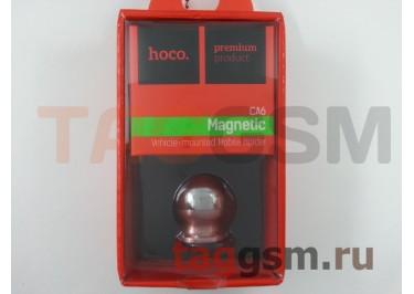 Автомобильный держатель (пластик, на магните, на шарнире) (черный с розовой вставкой) HOCO, CA6