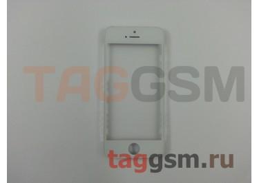 Стекло + OCA + рамка для iPhone 5 (белый), ориг