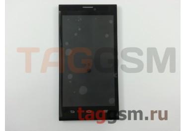 Дисплей для ZTE Blade L2 + тачскрин + рамка (черный)