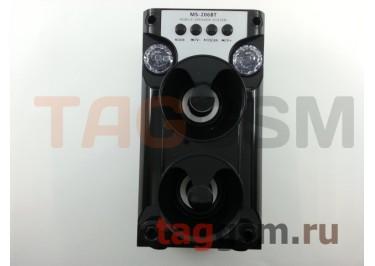 Колонка (MS-206BTch) (Bluetooth+USB+MicroSD+FM+LED) (черная)