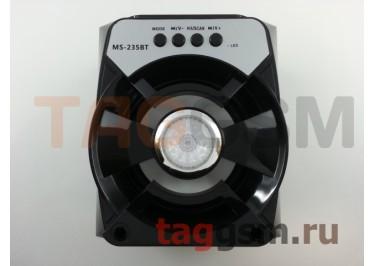 Колонка (MS-235BTch) (Bluetooth+USB+MicroSD+FM+LED) (черная)