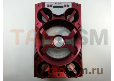 Колонка (MS-253BTch) (Bluetooth+USB+MicroSD+FM+LED+дисплей) (красная)