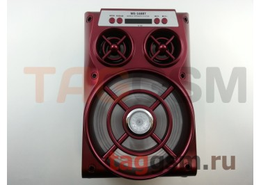 Колонка (MS-168BTch) (Bluetooth+USB+MicroSD+FM+LED+дисплей) (красная)