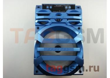 Колонка (MS-187BTch) (Bluetooth+USB+MicroSD+FM+LED+дисплей) (голубая)