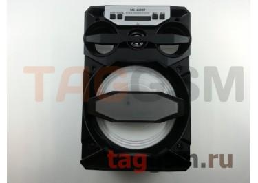 Колонка (MS-219BTch) (Bluetooth+USB+MicroSD+FM+LED+дисплей) (черная)