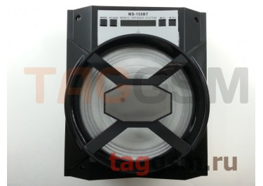Колонка (MS-155BTch) (Bluetooth+USB+MicroSD+FM+LED) (черная)