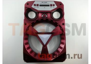Колонка (MS-216BTch) (Bluetooth+USB+MicroSD+FM+LED+дисплей) (красная)
