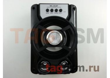 Колонка (MS-201BTch) (Bluetooth+USB+MicroSD+FM+LED) (черная)
