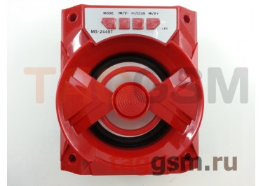 Колонка (MS-244BTch) (Bluetooth+USB+MicroSD+FM+LED) (красная)