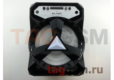 Колонка (MS-240BTch) (Bluetooth+USB+MicroSD+FM+LED+дисплей) (черная)