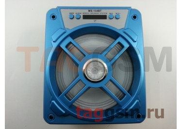 Колонка (MS-154BTch) (Bluetooth+USB+MicroSD+FM+LED+дисплей) (голубая)