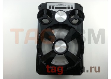Колонка (MS-218BTch) (Bluetooth+USB+MicroSD+FM+LED+дисплей) (черная)
