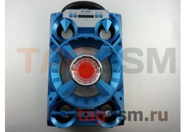 Колонка (MS-250BTch) (Bluetooth+USB+MicroSD+FM+LED+дисплей) (голубая)