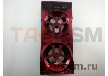 Колонка (MS-189BTch) (Bluetooth+USB+MicroSD+FM+LED+дисплей) (красная)