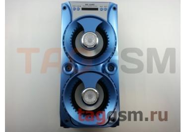 Колонка (MS-164BTch) (Bluetooth+USB+MicroSD+FM+LED+дисплей) (голубая)