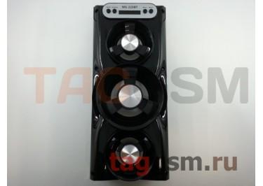 Колонка (MS-225BTch) (Bluetooth+USB+MicroSD+FM+LED+дисплей) (черная)