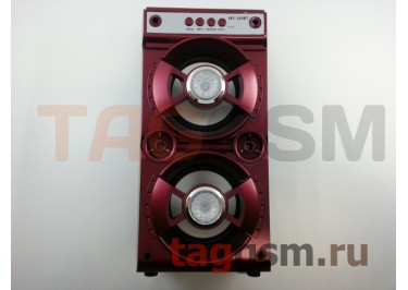 Колонка (MS-160BTch) (Bluetooth+USB+MicroSD+FM+LED) (красная)