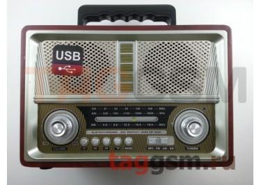 Колонка (MD-1802BTch) (Bluetooth+USB+SD+MicroSD+FM) (серебро)