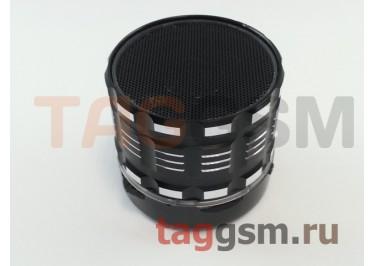 Колонка (Bluetooth, FM, USB, AUX, microSD, светящаяся, черный) Ginzzu (GM-88OB)