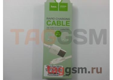 USB для iPhone 7 / iPhone 6 / iPhone 5 / iPad4 / iPad Mini / iPod Nano (в коробке) белый 1м (2шт), HOCO (X Series X1)