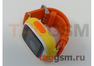 GPS - детские часы SmartBabyWatch Q80 (Желтые)