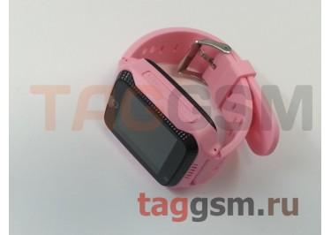 GPS - детские часы SmartBabyWatch G100 (Розовые)
