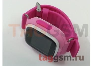GPS - детские часы SmartBabyWatch Q80 (Розовые)