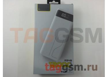 Портативное зарядное устройство (Power Bank) (Aspor A349, 2USB выхода 1000mAh  /  2400mAh) Емкость 12000mAh (белый с дисплеем)
