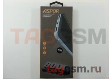 Портативное зарядное устройство (Power Bank) (Aspor A322, 2USB выхода 1000mAh  /  2000mAh) Емкость 9000mAh (черный)