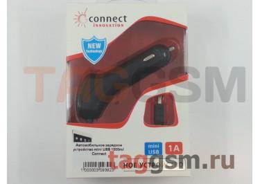 Автомобильное зарядное устройство mini USB 1000mA Connect