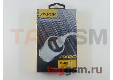 Автомобильное зарядное устройство 2USB + microUSB 2400mA (A902C) ASPOR