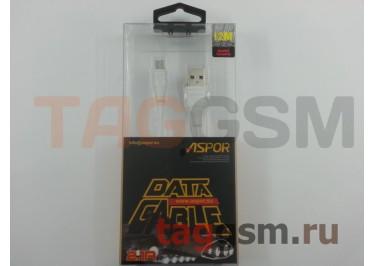 Кабель USB - micro USB (AC-01) ASPOR (1,2м) (белый)