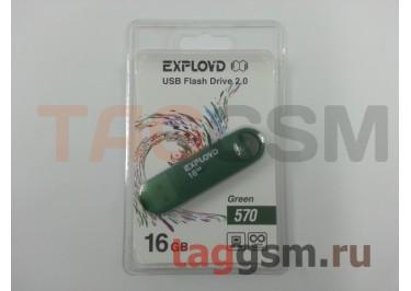 Флеш-накопитель 16Gb Exployd 570 Green