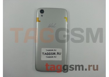 Задняя крышка для Alcatel OT-6039Y Idol 3 (серебро)