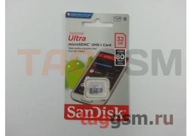 Micro SD 32Gb SanDisk Class 10 UHS-I 80Mb / s без адаптера SD