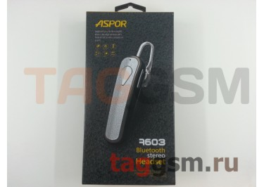 BLUETOOTH-гарнитура Aspor A603 (Bluetooth v4.0), черный
